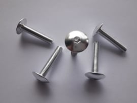 Bout Inbus Bolkop M 6 x 30 Aluminium