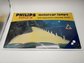 Reclamebord Philips Lampen Motorcar Lamps