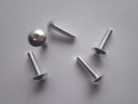 Bout Inbus Bolkop M 5 x 20 Aluminium