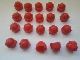 Wielmoerkapjes 19 mm Rood