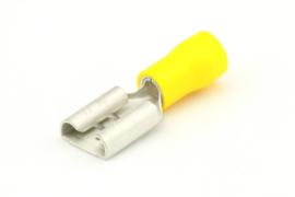 Vlakstekerhuls 2.5-6.0mm² geel 9.4x1.2mm