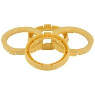 Centreer ring set 63.3->54.1mm Yellow