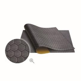 Isolatie Rubber Plakmat Zwart 50x50cm (Honingraatstructuur)