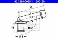 Slangaansluiting Hoofdremcilinder 8 mm