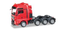 Herpa MAN TGX XXL 640 E6 heavy duty rigid trekker, rood