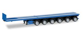 Nooteboom ballast trailer 6-assig, enzianblue  Herpa