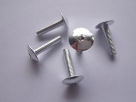 Bout Inbus Bolkop M 6 x 25 Aluminium