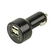 Mini Auto Oplader USB 2,1/1,0A