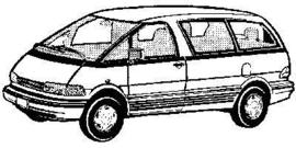 Toyota Previa tot 2000