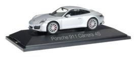 Porsche 911 Carrera 4 S Coupe, zilver metallic Herpa
