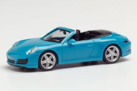 Porsche 911 Carrera Cabrio, blauw