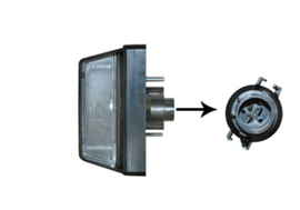 Kentekenplaatverlichting Fiat Ducato 2002-2006 Links