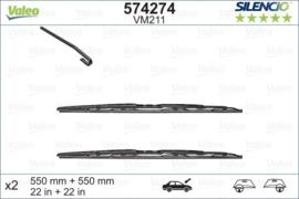 Ruitenwisserset Audi A4 02/2001 tot 10/2003