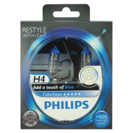 Philips Color Vision H4 Blue 12V
