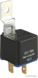 Schakelrelais 4 polig 30 Amp