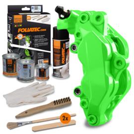 Foliatec Remklauwlakset - NEON groen - 4 Componenten