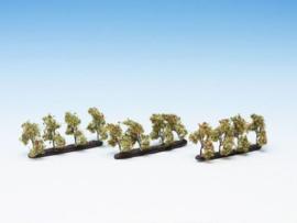 Plantagenbomen met appels 12 st., 3,5 cm hoog Noch