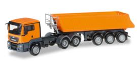 MAN TGS L Euro 6 dumper semitrailer  Herpa