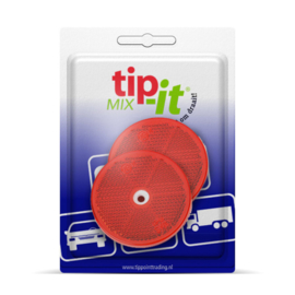 REFLECTORS ROND ROOD 60 MM SCHROEF