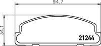 Set remblokken Daihatsu Cuore L55 en L60