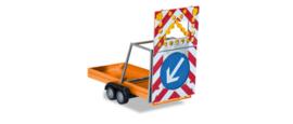 safety traffic Trailer, communal orange