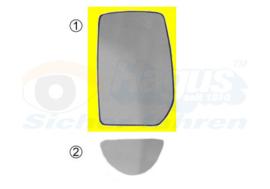 Spiegelglas FORD TRANSIT 7/2006 - 2014 Links Boven
