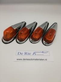 Do-Ray Toplampen , oranje - chroom , 12V /8W , 20x5/2cm , set prijs