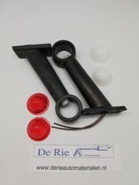 Hella 2x Breetepaal , rood/wit , Maat: 19,5 x 9,5 cm