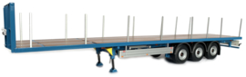 PACTON FLATBED TRAILER BLAUW Marge Models