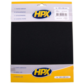 HPX Schuurpapier 230mm x 280mm Korrel 40 / 80 / 120 pak 4stuks