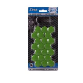 Wielmoerkapjes 19 mm Groen