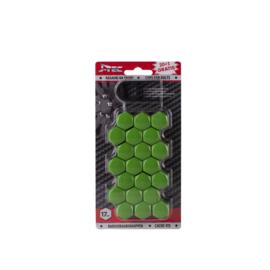 Wielmoerkapjes 17 mm Groen