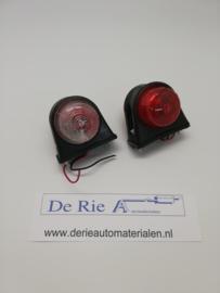 Universeel Breete lampjes , rood/wit , 8 x 8,5 x 7,5 cm