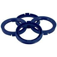 Centreer ring set 60.1->56.6mm Reflex blauw