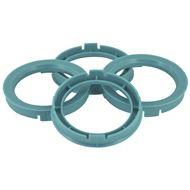 Centreer ring set 63.3->60.1mm Blauw