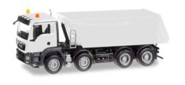 Herpa MiniKit: MAN TGS M Euro 6 Truck-kiepper, 4-axle, wit