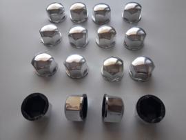 Wielmoerkapjes 17,8 mm Chrome