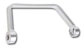 gebogen sleutel voor het verwijderen of monteren van de kunststofhouder bij Ford Peugeot Citroën olie filters Motoren: TDCi-HDi