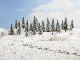 Sneeuw Dennen 25 stuks 5 - 14 cm hoog
