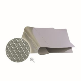 Isolatie Rubber Plakmat Aluminium 50x50cm (Ruitstructuur)