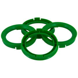 Centreer ring set 64.0->57.1mm Green