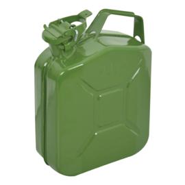 Benzinekan 5Ltr Groen/Metaal UN-keur