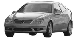 Mercedes CL Coupe W203 2001-2008