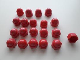 Wielmoerkapjes 17 mm Rood