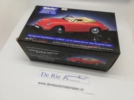 Porsche 356B Cabriolet (1961) rood 1:18