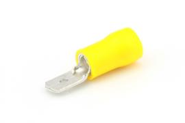 Vlaksteker 2.5-6.0mm² geel 6.3mm