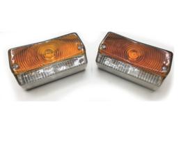 Verlichting + Knipperlicht Oranje/Wit (21W/5W) 2 stuks