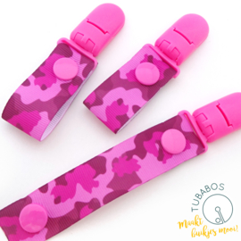 "1 Roll up clip ""Pink camouflage"""