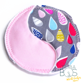 """Pink or blue raindrop"" 1 g/j easy tube pad"