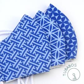 """MONA """"Blue pattern"""" 1 mondkapje"""